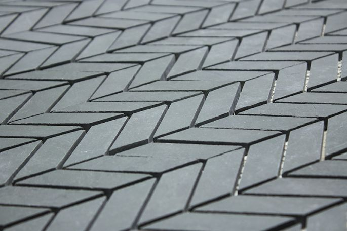Brazil Gray slate chevron tiles