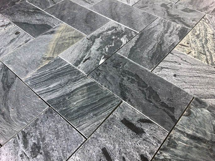 Brushed Honed Silver Gray quartzite
