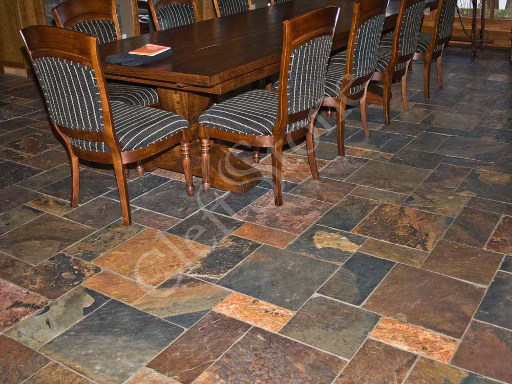 Installations The CleftStone Works - 4 inch slate tile