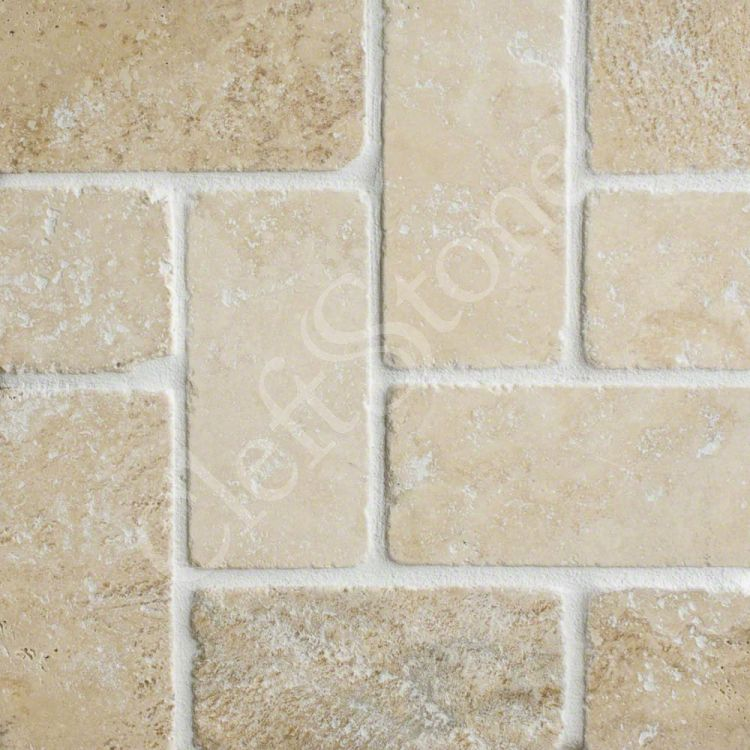 Shapes Patterns The CleftStone Works - 6 inch travertine tile