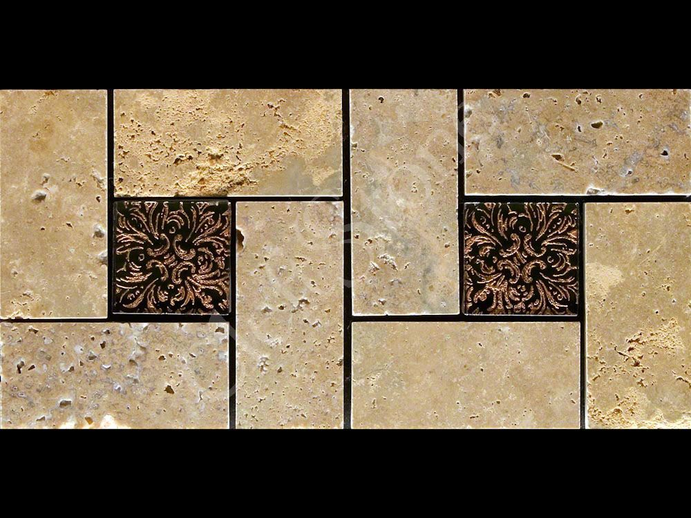 All Product Photos The CleftStone Works - 6 inch travertine tile