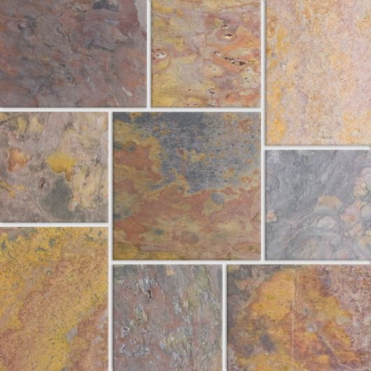 Calico Multicolor Slate The Cleftstone Works